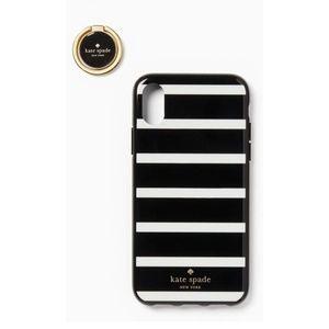 Kate Spade Ring & Stripe Resin iPhone XR Case